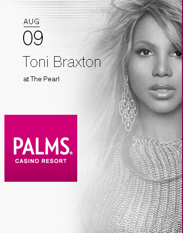 Toni Braxton to perform at the Pearl in Las Vegas, August 9th.