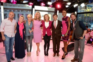 SUMMER MILLER, KELLIE PICKLER, LARA SPENCER, AMY ROBACH, GEORGE STEPHANOPOULOS, ROBIN ROBERTS, BAND