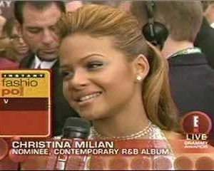Christina Milian in E! Grammy Preshow