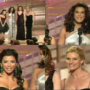 Eva Longoria in 2005 Golden Globe Awards
