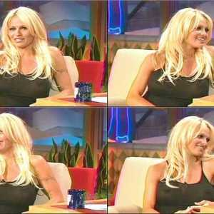 Pamela Anderson in The Tonight Show with Jay Leno