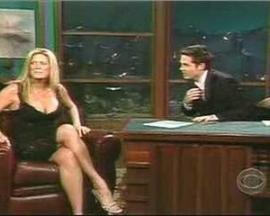 Rachel Hunter in The Late Late Show