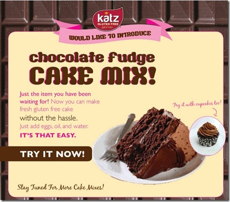 ckm thumb Katz Gluten Free Introduces Chocolate Cake Mix