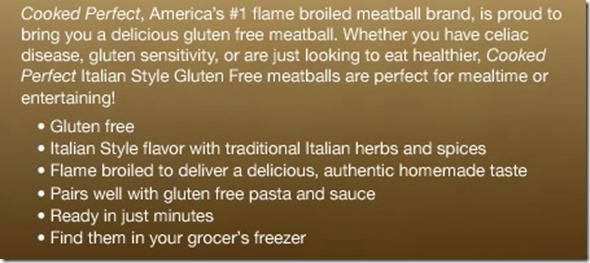 cpparagraph thumb Review: Cooked Perfect Gluten Free Meatballs