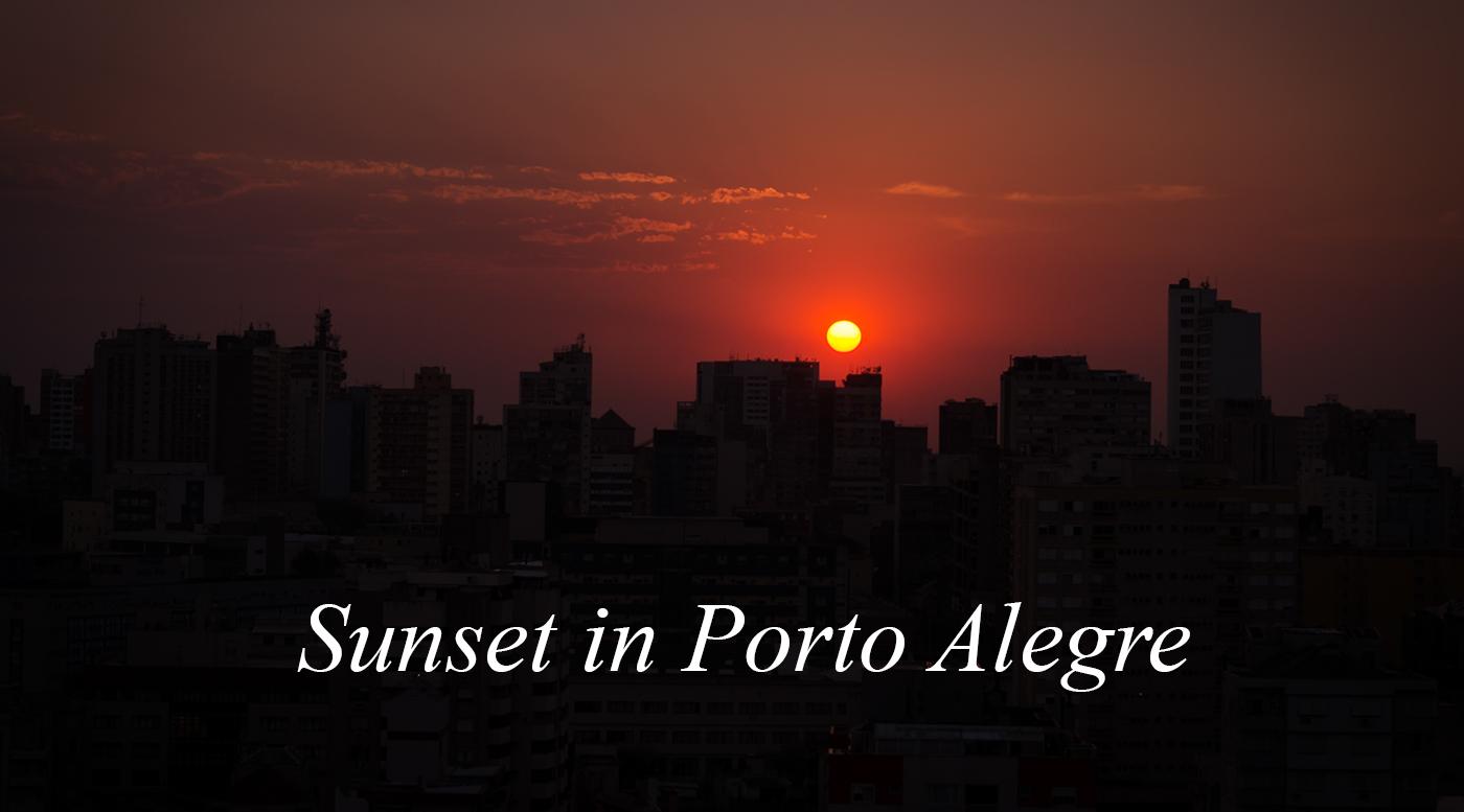 Sunset In Porto Alegre, Brazil