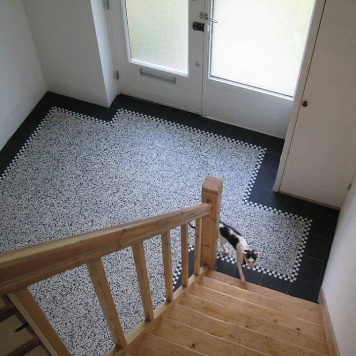 Granito tegels 40x40 met retroline 20x20 cementtegels - Patroon cement tegels ...
