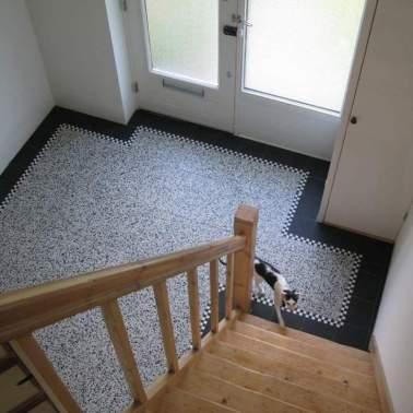 Granito tegels 40x40 met retroline 20x20