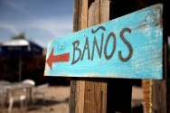 Royalty-free Image: Mexican Bathroom sign by Johnathan Hillis from freeimages.com