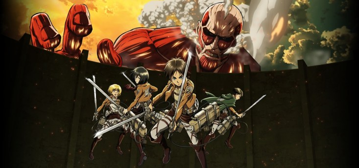 Tags: Scan, Official Art, Shingeki no Kyojin, Mikasa Ackerman, Levi, Eren Jaeger, Armin Arlert, Titan (Shingeki no Kyojin), Colossal Titan