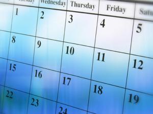 calendar for Center of Health