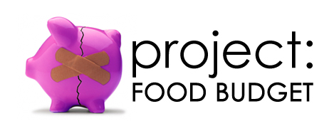 project food budget piggy bank