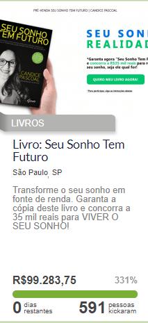 Vaquinha Online para Livros - Seu Sonho Tem Futuro