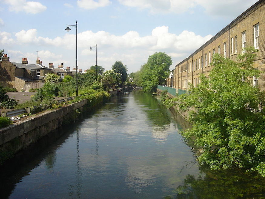The River Lea flows right through the village. Photo: Northmetpit