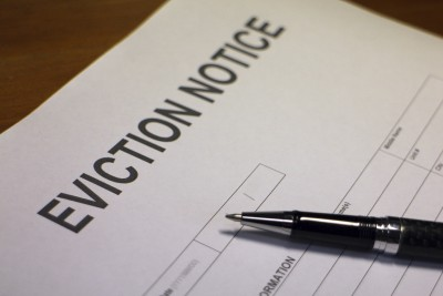 Eviction notice for landlord property