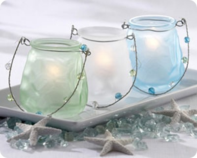 sea glass luminary my wedding favors