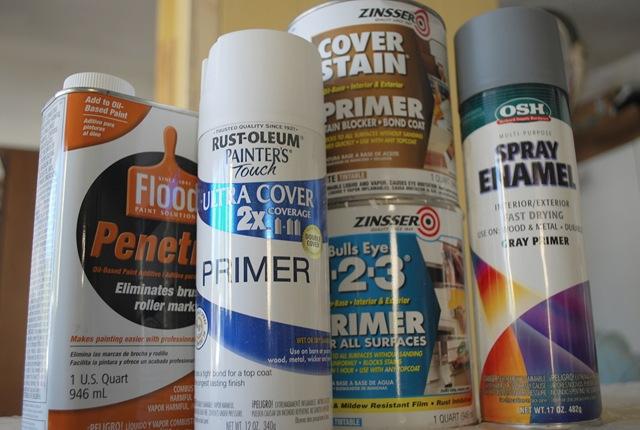 Latex primer oil paint