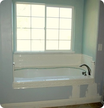bathtub before