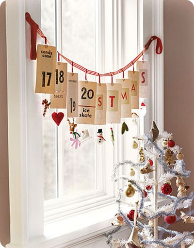 country living advent in window