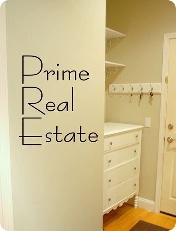 prime real estate mud room