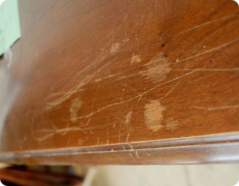sideboard scratched