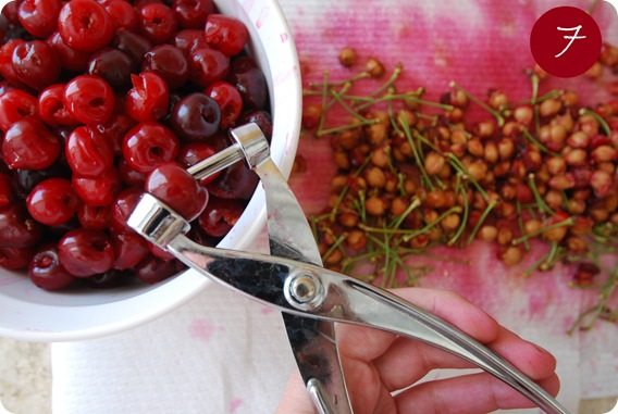 pitting cherries with pitter 7