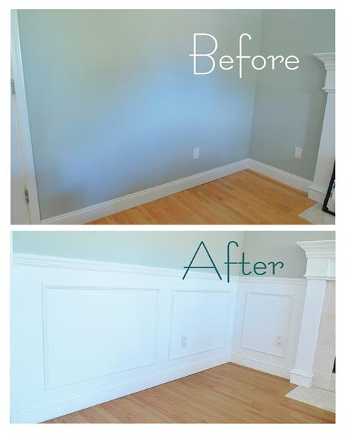 wainscoting before and after