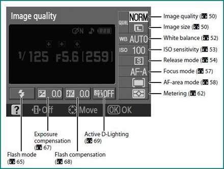 nikon image settings