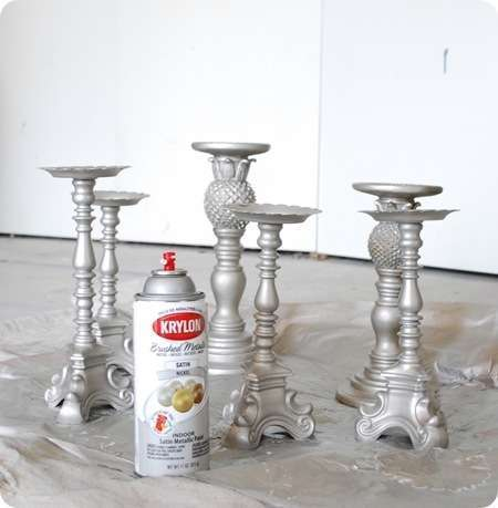 spray paint candlesticks