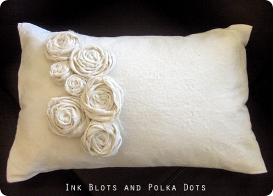 ink blots drop cloth pillow