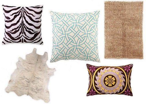 joss pillows and rugs