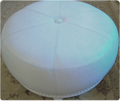 painted leather ottoman 2