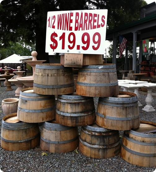 Wine barrels in home decor centsational girl for 1 2 wine barrel table