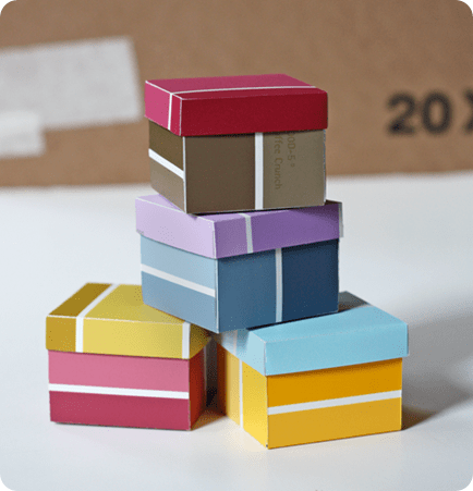 boxes from paint swatches howaboutorange