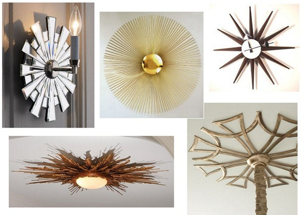 sunburst inspired decor