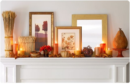 fall mantel homegoods