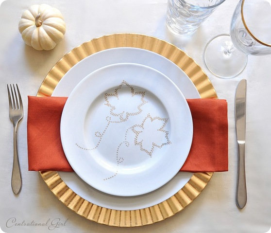 falling leaves accent plate cg