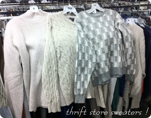 goodwill sweaters