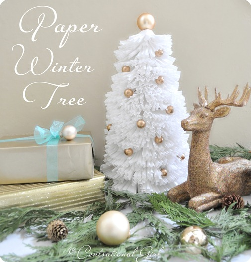 paper winter tree centsational girl