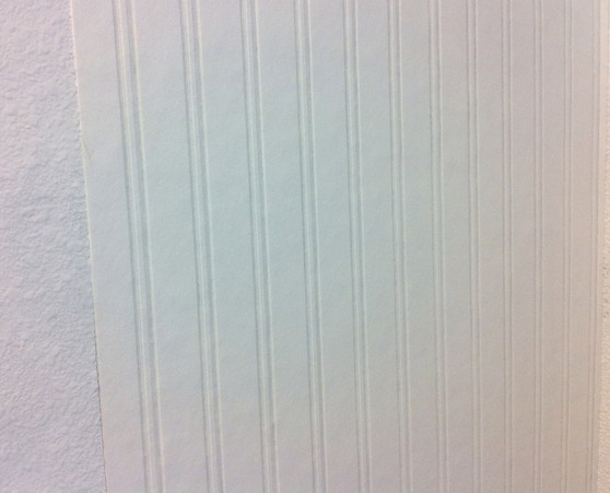 beadboard wallpaper on wall
