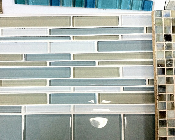 glass tile for hall bath