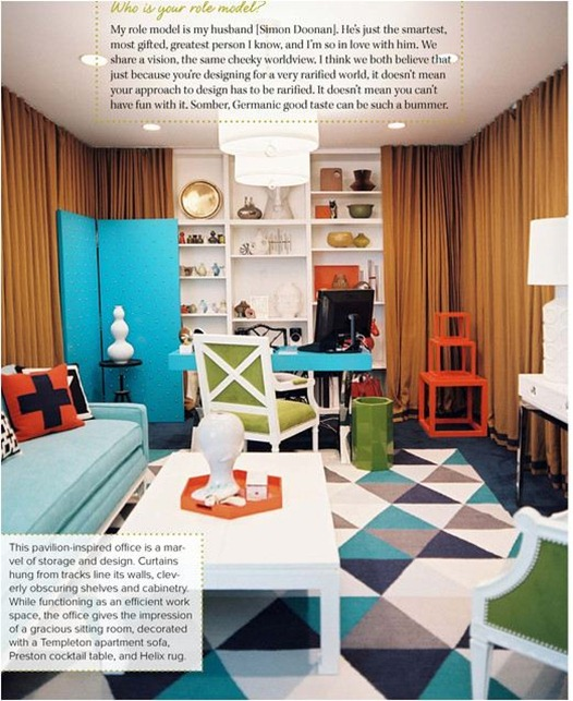 jonathan adler sitting room office lonny nov dec 2011
