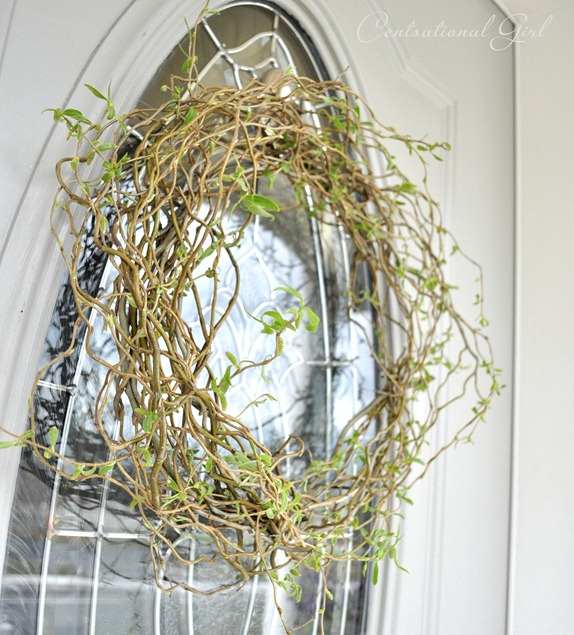 loose and natural curly willow wreath