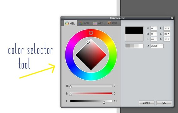 color selector tool
