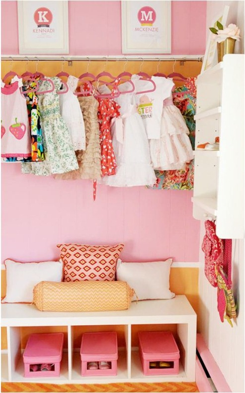 project nursery girls closet