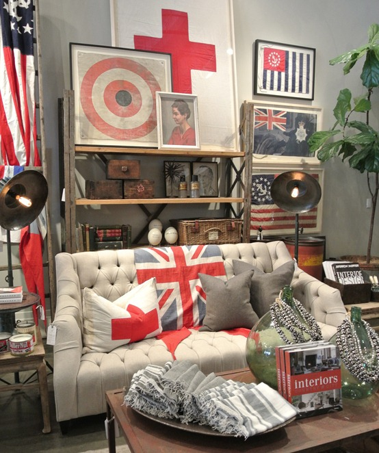 swiss and union jack flag pillows throws