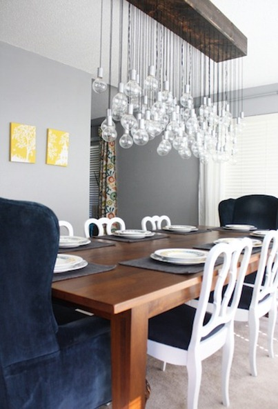 diy dining room light
