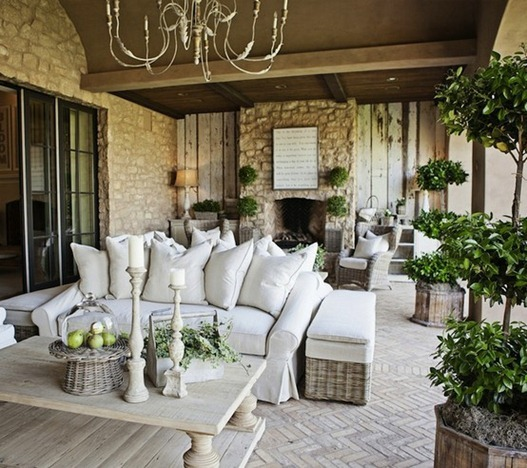 neutral outdoor patio