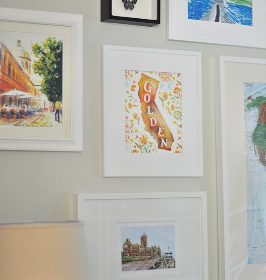framed travel prints