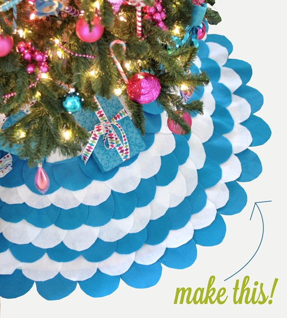 make a scalloped felt tree skirt