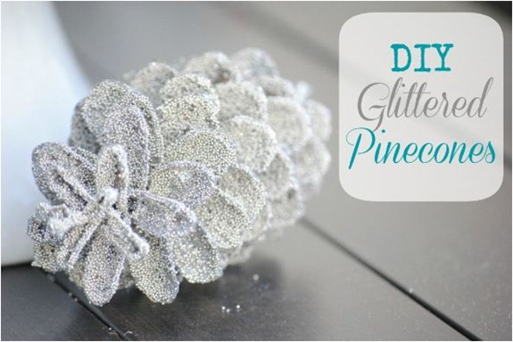 diy glittered pinecones makinglemonade